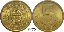 Peru 5 Soles 1978 -1983 KM#271