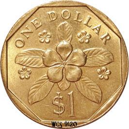 Singapore 1 Dollar 1987-1991 KM#54b