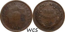 Peru 2 Centavos 1942 KM#212.2 VF-