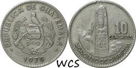 Guatemala 10 Centavo 1965-1970 KM#267
