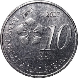 Malaysia 10 Sen 2011-Date KM#202