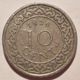 Suriname 10 Cents 1966 KM13