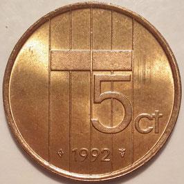 Netherlands 5 Cents 1982-2001 KM#202