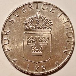 Sweden 1 Krona 1976-1981 KM#852