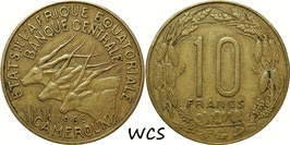 Equatorial African States 10 Francs 1965 KM#2a VF