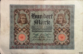 Germany 100 Mark 01.11.1920 Ro 67b Underprint/Series O/N