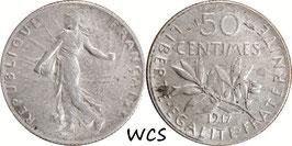 France 50 Centimes 1917 KM#854 VF (2)