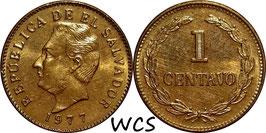 El Salvador 1 Centavo 1976-1977 KM#135.2