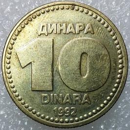 Yugoslavia 10 Dinara 1992 KM#152