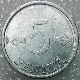 Finland 5 Penniä 1977-1990 KM#45a