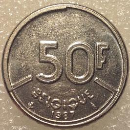 Belgium 50 Francs 1987-1993 BELGIQUE KM#168