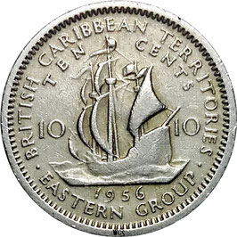 East Caribbean States 10 Cents 1955-1965 KM#5