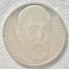 Federal Republic 10 Mark 1993 J - 150th Anniversary - Birth of Robert Koch KM#181 XF
