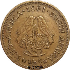 South Africa ½ Cent 1961-1964 KM#56