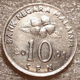 Malaysia 10 Sen 1989-2011 KM#51