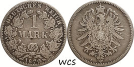 German Empire 1 Mark 1876 A KM#7 F (1)