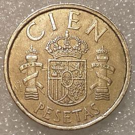 Spain 100 Pesetas 1982-1990 KM#826