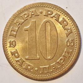 Yugoslavia 10 Para 1965-1981 KM#44