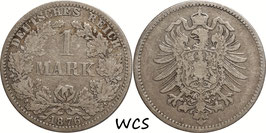 German Empire 1 Mark 1876 A KM#7 F (2)