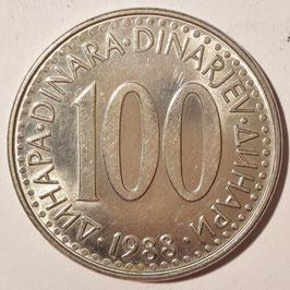 Yugoslavia 100 Dinara 1985-1988 KM#114