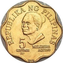 Philippines 5Sentimos 1979-1982 BSP KM#225