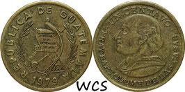 Guatemala 1 Centavo 1974-1979 KM#275.1 VF