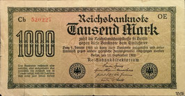 Germany 1000 Mark 15.09.1922 Ro 75d Printer: OE