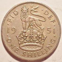 Great Britain 1 Shilling 1949-1951 Scottish KM#877