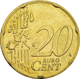 Germany 20 Cent 2002-2006 KM#211