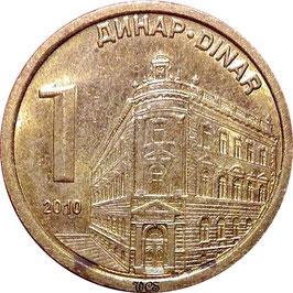 Serbia 1 Dinar 2009-2011 KM#48