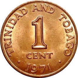 Trinidad and Tobago 1 Cent 1966-1973 KM#1