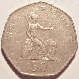 Great Britain 50 New Pence 1969-1981 KM#913