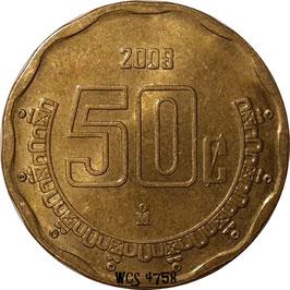 Mexico 50 Centavos 1992-2009 KM#549