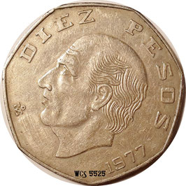 Mexico 10 Pesos 1974-1977 KM#477