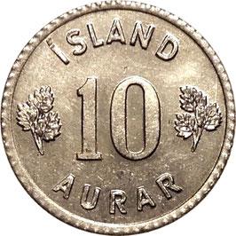 Iceland 10 Aurar 1970-1974 KM#10a