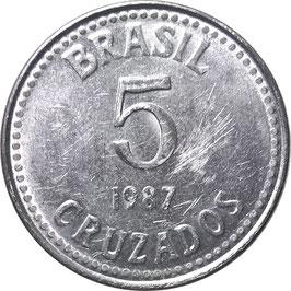 Brazil 5 Cruados 1986-1988 KM#606