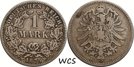 German Empire 1 Mark 1875 C KM#7 F (1)