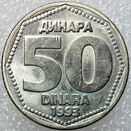 Yugoslavia 50 Dinara 1993 KM#158 XF