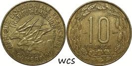Cameroon 10 Francs 1958 KM#10 VF