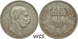 Hungary 1 Korona 1912 KM#492 VF