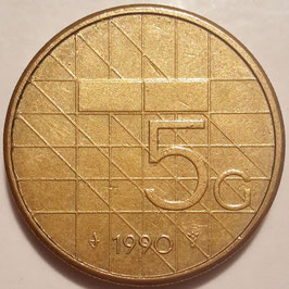 Netherlands 5 Gulden 1988-2001 KM#210