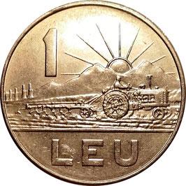 Romania 1 Leu 1966 KM#95 XF