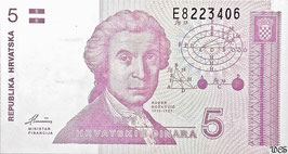 Croatia 5 Dinara 08.10.1991 P.17a