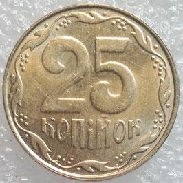 Ukraine 25 Kopiyok 2001-2015 KM#2.1b