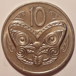 New Zealand 10 Cents 1970-1985 KM#41