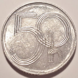 Czech Republic 50 Haleru 1993-1997 KM#3.1