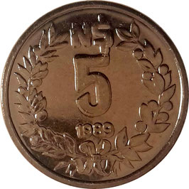 Uruguay 5 Nuevos Pesos 1989 KM#92 UNC