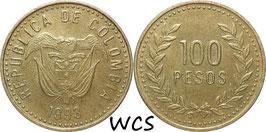Colombia 100 Pesos 1992-1995 KM#285.1