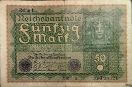 Germany 50 Mark 24.06.1919 Ro 62a Printer Reihe 1, Series a