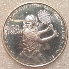 Niue 50 Dollars 1987 KM#6 Proof - Olympic Games Seoul 1988 - Steffi Graf